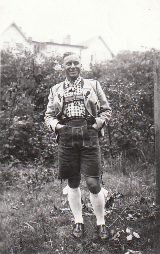 Mrtin Ansbacher wearing traditional Tracht clothing