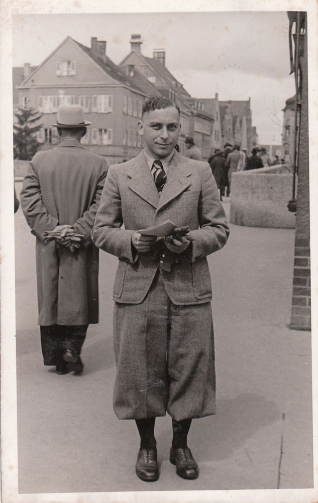 Martin Ansbacher - very smartly dressed young man